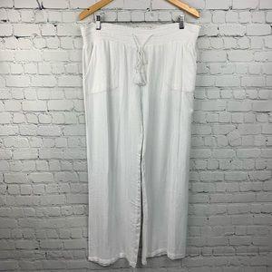 Blue Island Beach Pants Flowy White Size XL